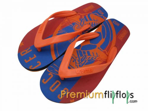 Men Football Boot Print Flip Flops